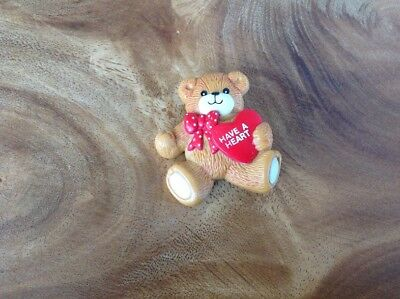Vintage LUCY RIGG Teddy Bear Pin HAVE A HEART 1984 VALENTINE'S DAY