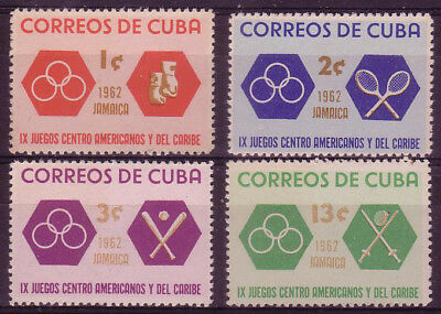 1Cuba 1962. Central American and Caribbean Games. Scott # 747-750. MNH, VF