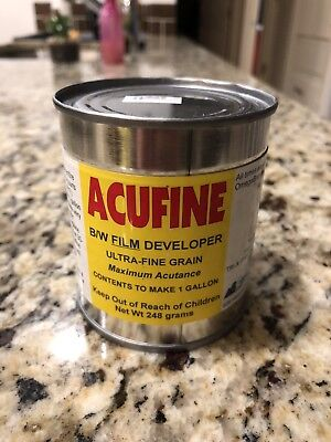 New Acufine Developer 248 gram can, Film Developer BW B&W Black and White