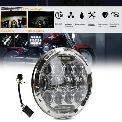 Motorcycle Fit Harley 7Inch CREE LED Headlight w/DRL HIgh-Lo For Harley Davidson