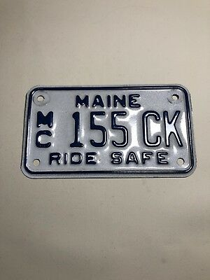Maine Motorcycle License Plate MC Ride Safe