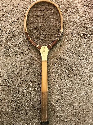 RARE Antique Vintage Wright Ditson Criterion Wood Tennis Racket Wood Handle Nice