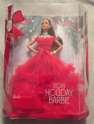 Barbie 2018 Holiday Signature Collector Doll ~ Brunette ~ Authentic ~ NEW