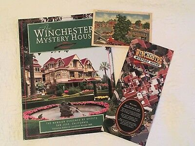 3 Winchester Mystery House Souvenir 1997 Book Estate Guide Vintage Post Card Lot