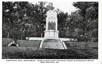 1938 MARIETTA GA - Cheatham Hill Monument - Tunnel Under Confederate Works