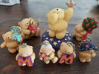 Hallmark Forever friends bear  figurines - mixed lot (18, 21, star, M)