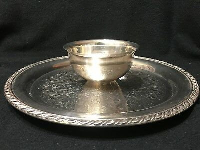 Vintage Wm A Rogers by Oneida Silverplate Chip and Dip Tray