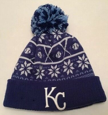 separation shoes f3d0e dfd32 Kansas City Royals New Era MLB Knit Cap With Cuff And Pom