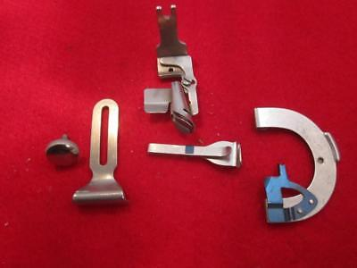 4 Vintage Singer Sewing Machine Back Clamp  Attachments Rear Mount Rust