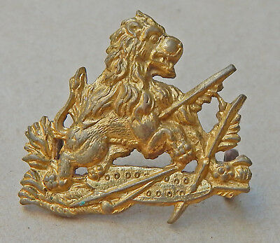 BSAP Rhodesian British South African Police FIRE GILT COLLAR Badge BUSH WARS era