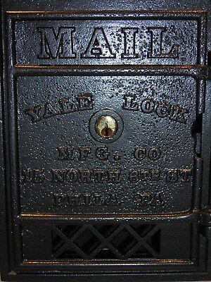 Cast Iron RARE YALE Antique Mail Box @ Post Office P O Door @ USPS Postal Slot