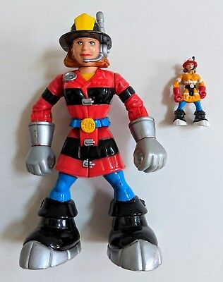 "Mattel Rescue Heros Wendy Waters Action Figure 6.5"" & Mini Figure2"" 2000"
