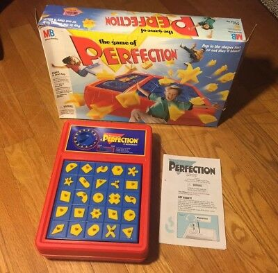 "Vintage ""Perfection"" 1998 Game by Milton Bradley  Tested Working with All Pieces"