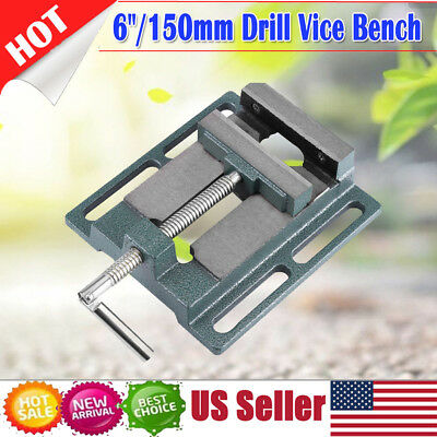 """6"""" Heavy Duty Drill Press Vice Bench Clamp Woodworking Vise Drilling Machine USA"""