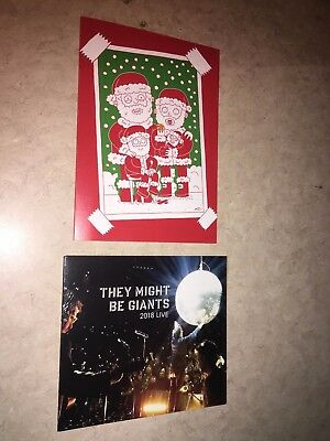 TMBG Christmas Card with They Might be Giants 2018 Live sealed