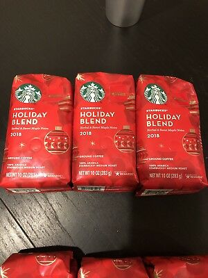 Starbucks 2018 Holiday Blend Ground Coffee - lot of 3 bags Limited Ed Exp 5/19