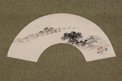 JAPANESE HANGING SCROLL ART Painting Scenery Asian antique  #E5683