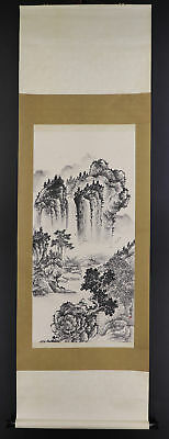 CHINESE HANGING SCROLL ART Painting Sansui Landscape Asian antique  #E5672