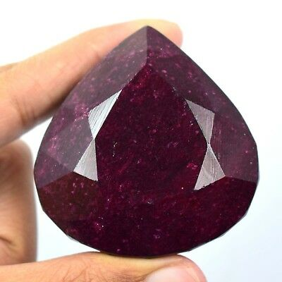 723 Ct Best Price African Natural Red Ruby Heart Cut Certified Gemstone AF855