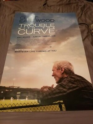 """Trouble with the Curve Movie Poster -  Theatr Size 27""""x40"""" - NEW- Clint Eastwood"""
