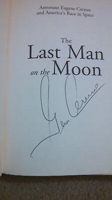 Gene Cernan Signed Autographed Book The Last Man On The Moon Apollo 17