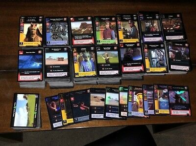Star Wars Young Jedi CCG: ~1500 Cards, Large Lot