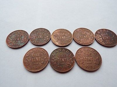 1921 - 1932 Canada Small Cents