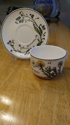 Villeroy & Boch Botanica Flat Cup and Saucer Two Flowers Porcelain
