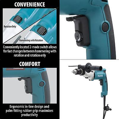 6.6 Amp 3/4 in. Corded Hammer Drill with Torque Limiter Side Handle Depth Gauge
