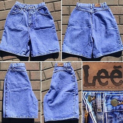 "Vintage Lee (jeans) High Waist Denim Shorts USA 8 M 25 1/2"" Waist 80s 90s"