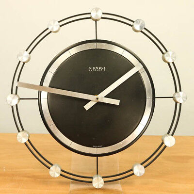 Wand Uhr Kienzle International Quartz Werk Junghans Vintage Wall Clock 60er 70er
