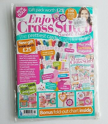 Enjoy Cross Stitch Magazine - Issue 19  with Free Gift Pack worth £25