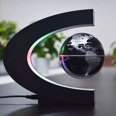 Floating Globe LED Light Birthday Gift Xmas Decoration New Magnetic Levitation