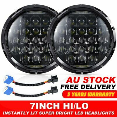 "Pair 7"" inch 5D For JEEP JK GQ PATROL Projector LED Headlight DRL Insert 130w"