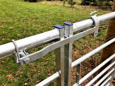Throw over loop bolt on for metal field gates farm equestrian fencing 5 bar gate