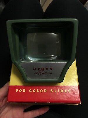 Argus Previewer For Colour Slides Vintage In Original Box Top Condition 1957