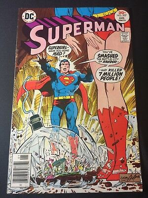 DC Comics 1st Series SUPERMAN #307 Neal Adams Cover Art Supergirl Kandor