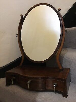 Antique Mahogany  Regency Swing Toilet Dressing Mirror