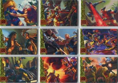 2018 Fleer Ultra X-Men Greatest Battles Complete 10 Card Insert Set