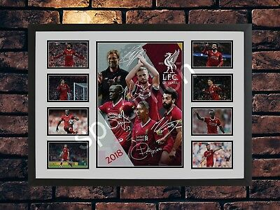 Liverpool Fc 2018/19 Salah Firmino Mane Signed Limited Edition Memorabilia Print