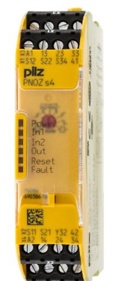 Pilz Safety Relay PNOZ s4 750104 dual channel configurable 24VDC