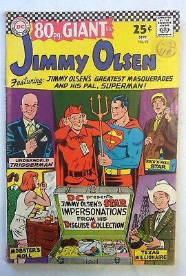 Superman's Pal Jimmy Olsen Lot 92,93,94,95 Silver Age 1966 VG to NF Condition