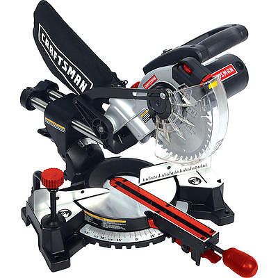 "Craftsman 7-1/4"" Single Bevel Sliding Compound Miter Saw (SM1852RC) & NEW 100%"
