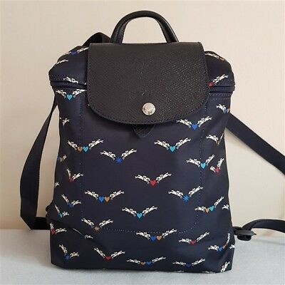 New Longchamp Le Pliage Cruise Collection Backpack-Navy Blue