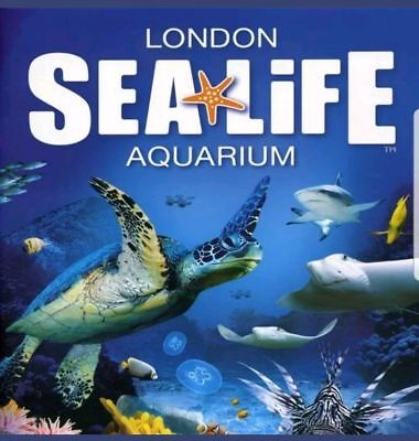 Sea Life London Tickets X 2, Valid For Friday 25Th Jan 2019