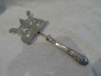 Gorgeous french sterling silver & silver-plated asparagus server rococo st