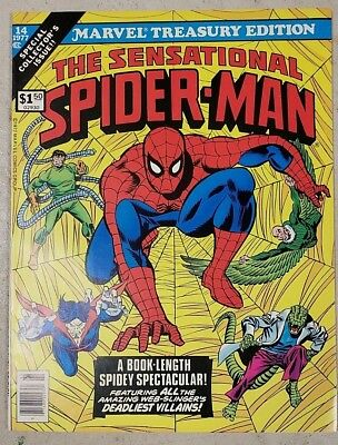 * MARVEL TREASURY Edition 14 (NM 9.2) SPIDER-MAN ORIGINAL OWNER Collection