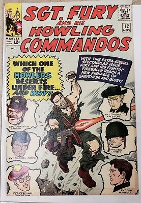 * Sgt FURY and his HOWLING Commandos 12 (VF- 7.5) ORIGINAL OWNER Collection *