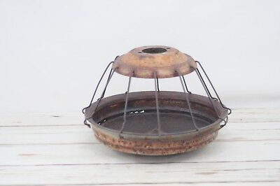 VTG Large Primitive Galvanized Metal Livestock Feeder Turkey Chicken Feeder Farm