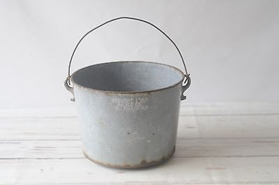Antique Cast Iron Bucket Pot Wrought Iron Range Co St Louis Missouri Late 1800s